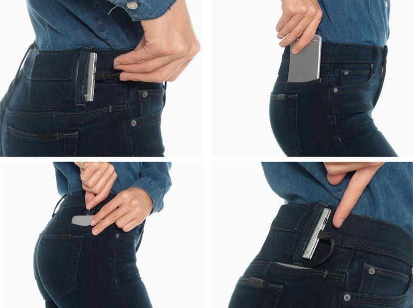 Джинсы с зарядкой для телефона