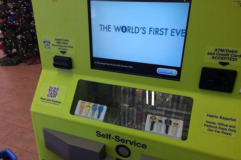 Автомат по изготовлению ключей