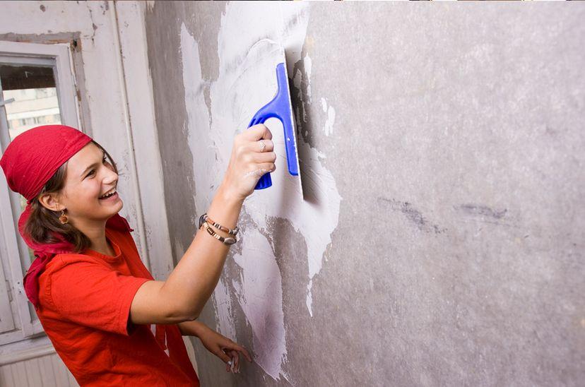 Ремонтные работы женскими руками