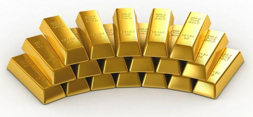 Банковские золотые слитки